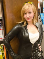 Jama Jenkins of Pensacola poses in her cosplay as Marvel Comics' Mockingbird at Barnes & Noble in Pensacola.