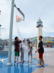 Families can cool off at Melio Gaspari Water Play Park and North Valleys Water Splash Park.