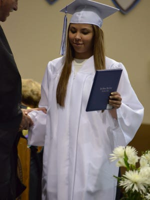 Jasmine Hayslett's graduation picture from Fort Defiance High School.