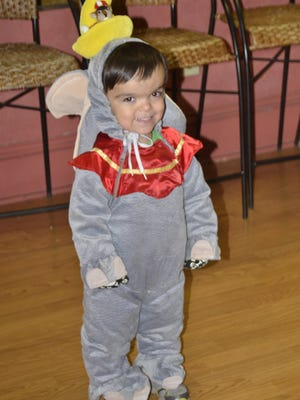 Ayden Wilson, 4, took home third place as Dumbo. He was excited to show off his trophy, the first he has ever won.