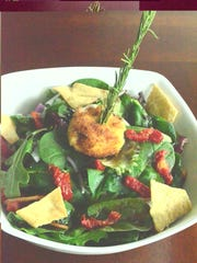 Fried goat cheese, sundried tomatoes and rosemary pair