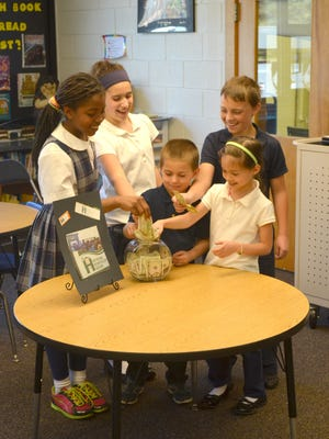 Students at St. Edward On-the-Lake school recently donated to four charities.