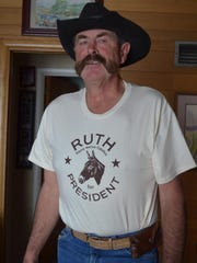 Steve Hutton campaigns for his mule Ruth for president. He is convinced she has the requisite skills for the job.