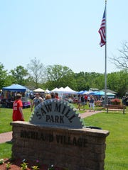 Artisans, crafters and merchants set up booths at Saw Mill Park during the Richland Village Festival on Memorial Day Weekend. Photo/Jodi Streahle