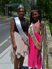 Miss Juneteenth Xeneja Surrency, 14, and Little Miss Juneteeth Erica Lane, 11, both of Bridgeton, are pictured during the Juneteenth Celebration in Bridgeton.
