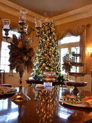 Christmas decorations at the Governor's Mansion, December