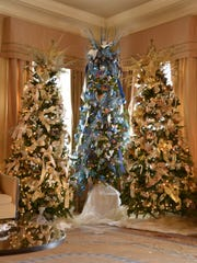Christmas decorations at the Governor's Mansion in