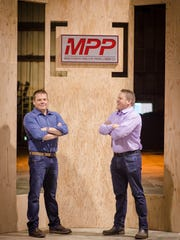 Tyler and Kyle Freres look forward to showcasing the company's new product, Mass Plywood Panel (MPP).