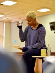 """Deidrie Henry, who portrays Billie Holiday, in rehearsal for Actors Theatre of Louisville's production of """"Lady Day at Emerson's Bar and Grill."""""""