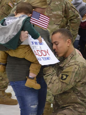 218 soldiers returned home after a successful nine month mission in Iraq and Kuwait.