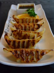 The Gyoza at Koriya are delicious pork dumplings that