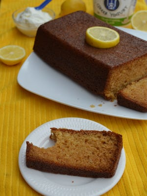 My Lemon Yogurt Loaf is addictive. It has a crusty exterior, a pound cake interior and has a lovely lemon flavor. Eat it for breakfast or dessert.