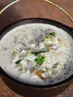 Tilapia Chowder with Dill is a simple and satisfying chowder accented with dill.
