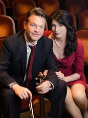 CSO concertmaster Timothy Lees and wife Catharine Carroll