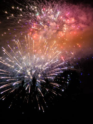 Fireworks are always a blast during Ojai's Fourth of July festivities.
