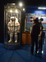 Visitors can see aircraft and equipment used in space.