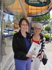 Doreen Negstad (left) and Jan Svingen of the Assistance League Auxiliary of Salem-Keizer are promoting their organization's major fundraiser, a book event with novelist Phillip Margolin.