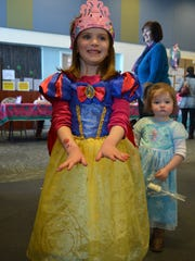 Joella McCarron, 4, of Vineland shows off her freshly painted fingernails at the princess party. Her cousin, Evangeline Tietjen, 2, also of Vineland, is pictured at right.