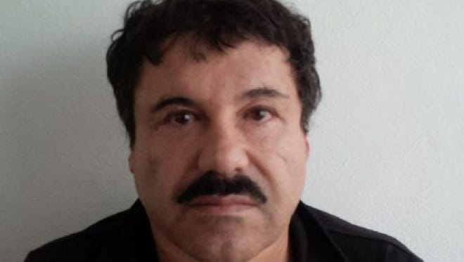 """Joaquin """"El Chapo"""" Guzman is photographed against a wall after his arrest in the Pacific resort city of Mazatlan, Mexico."""
