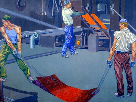 Andrews Steel mural