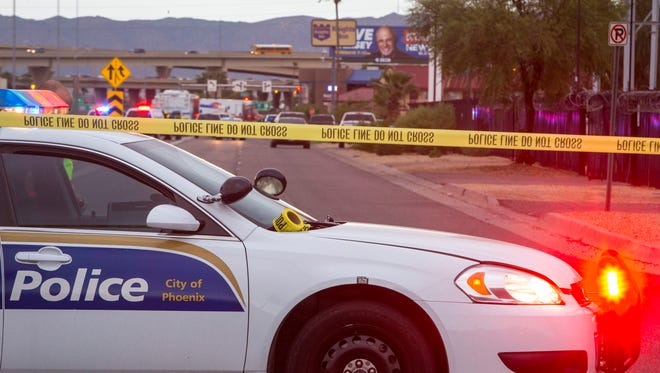 A Blue Alert was issued on Oct. 8, 2014, after a DPS officer was shot in the face at the intersection of I-17 and McDowell Road in Phoenix/
