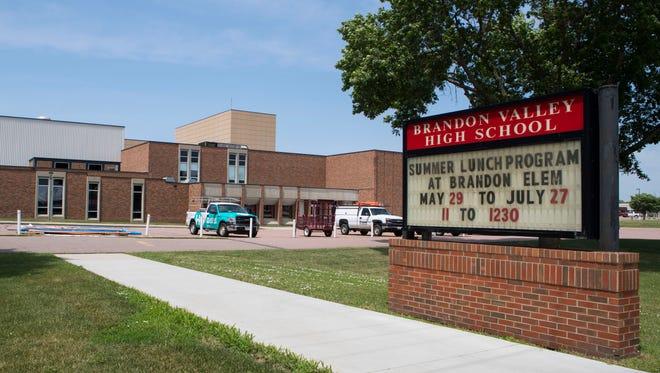 Brandon Valley High School building mug in Brandon, S.D. on Thursday, June 14, 2018.