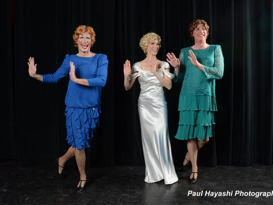 """(From left) Ben Reece, Se Layne and Allan H. Jensen star in the Palm Canyon Theatre production of """"Sugar,"""" running through Sunday"""