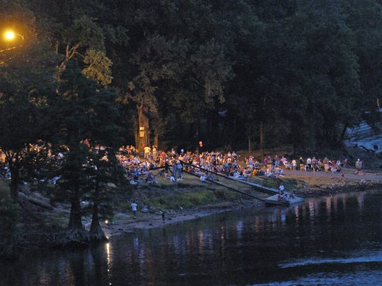 People can watch fireworks from Gold Star Park on Monday