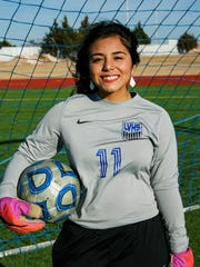 Lake View High School sophomore Jacqui Ortiz was goalkeeper