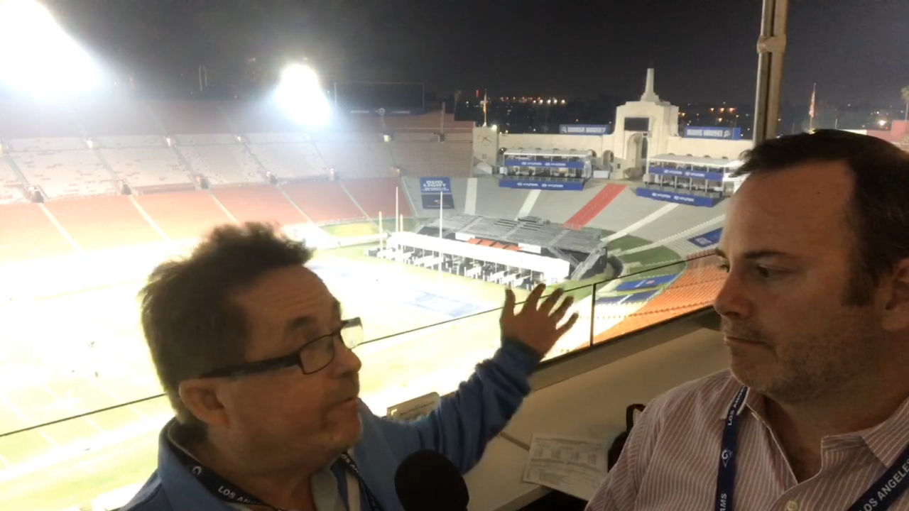 The Star's Bob Buttitta and Joe Curley break down the Rams 26-20 win over New Orleans at the Coliseum and discuss the game with fans on Facebook Live on Nov. 26, 2017.