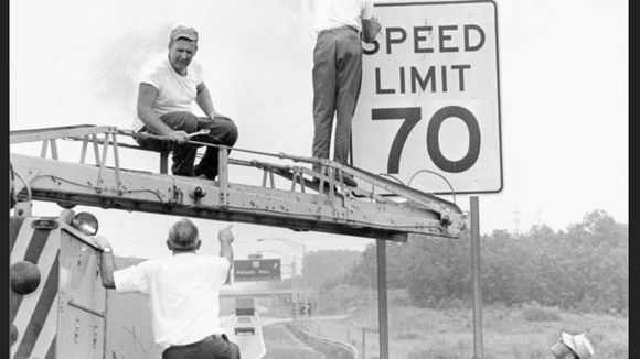 Yes, the speed limit once was 70 MPH on Interstate 95 between Delaware and Baltimore.