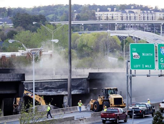 AP OVERPASS COLLAPSE FIRE A USA GA