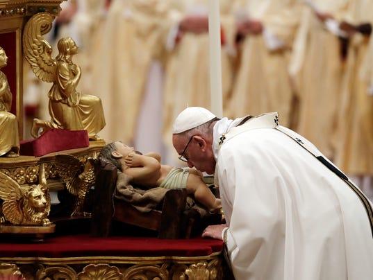 AP VATICAN POPE CHRISTMAS I VAT