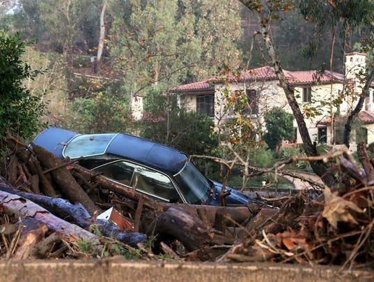 EPA USA CALIFORNIA WEATHER MUDSLIDES DIS FLOOD USA CA