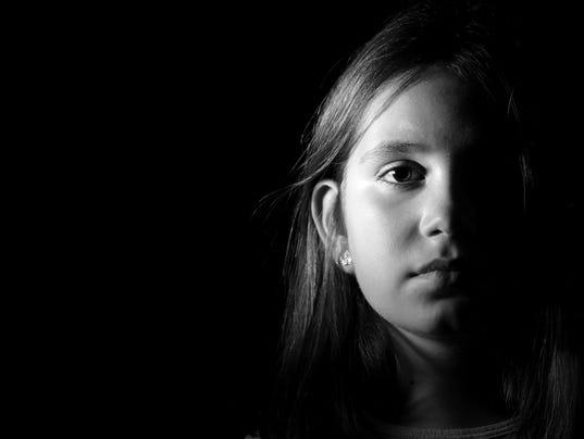 Little girl portrait monochrome