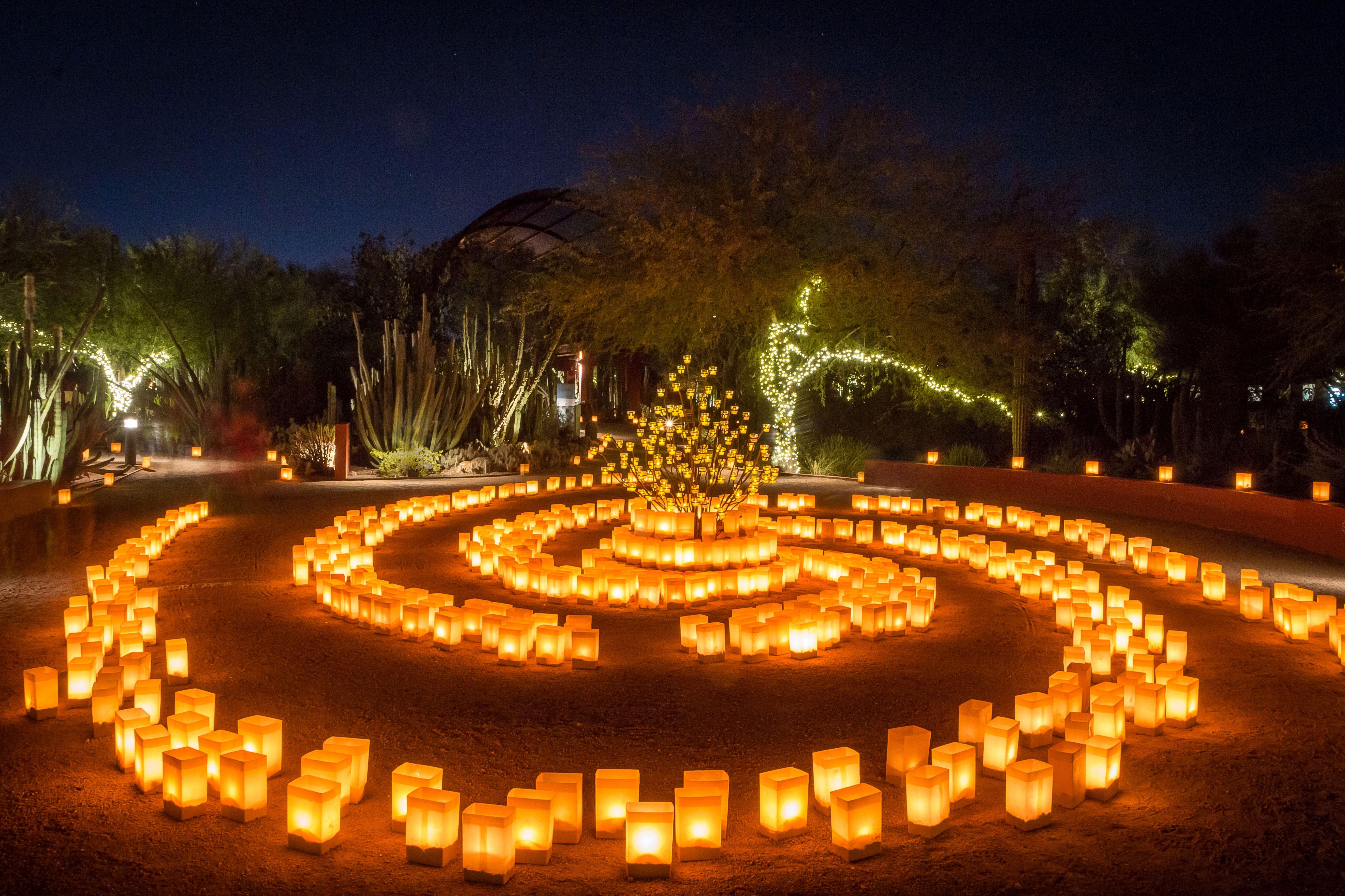 Las Noches De Las Luminarias Returns To Desert Botanical Garden On Nov. 25.  (Photo: ADAMSPHOTO)