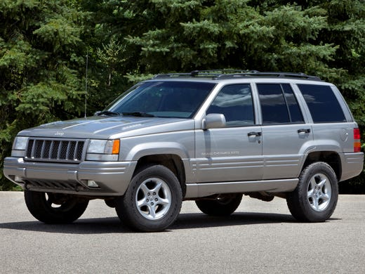 Chrysler has agreed to recall 1.56 million Jeep Grand Cherokee and Liberty models, including this 1998 Grand Cherokee.The government originally wanted 2.7 million 1993-2004 Jeep Grand Cherokees and 2002-07 Jeep Libertys recalled, but Grand Cherokees newer than 1998 have been dropped.