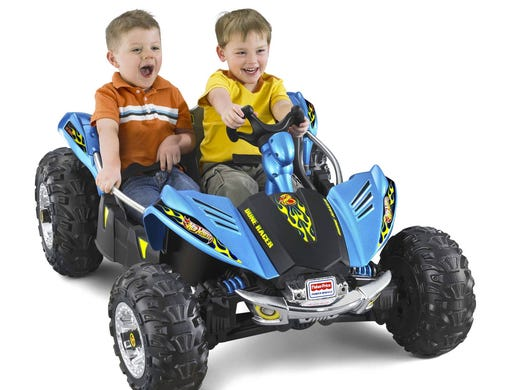 What toys are hot for the holidays this year? These are the leading contenders, according to retailers Toys R Us and Kmart: The Hot Wheels Dune Buggy from Power Wheels is a favorite among 3-5 year olds.