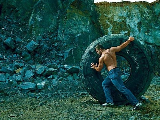 Controversy rating: 7/10. Photographed shirtless by Annie Leibovitz for Vogue, Tim Tebow is having way more fun as a backup QB in New York than he ever did as a starter in Denver. The man truly transcends football. <br /><br /><b>Explanation:</b> Apparently, a monster truck broke down in the middle of a forest.