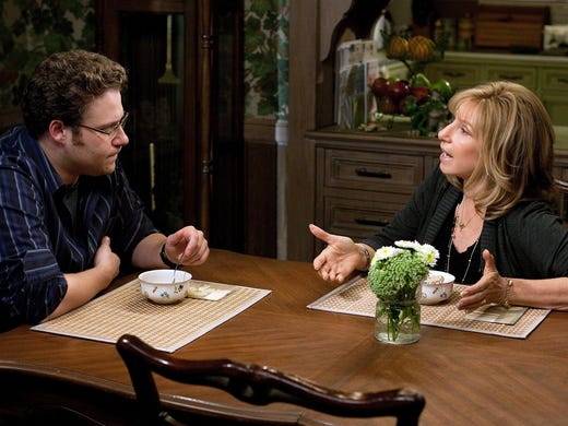 """In a moment of weakness, Andy Brewster (Seth Rogen) asks his widowed mom (Barbra Streisand) to join him on a work-related cross-country road trek in <i>The Guilt Trip</i>. The reason director Anne Fletcher chose this comedy as her follow-up to 2009's <i>The Proposal</i>? """"It's a love letter to my mom, with all the things I couldn't say to her face,"""" she tells USA TODAY's Susan Wloszczyna."""