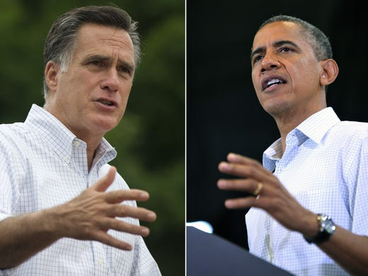 Democrat Barack Obama and Republican Mitt Romney, who meet for their first debate on Wednesday, share nothing in common except their reluctance to step outside the safe-and-forgettable box in their apparel and appearance. USA TODAY's <b>Maria Puente</b> breaks down their senses of style with the help of Gilt Man's vice president of creative and editorial Tyler Thoreson and 'Men's Health' editor-in-chief David Zinczenko.