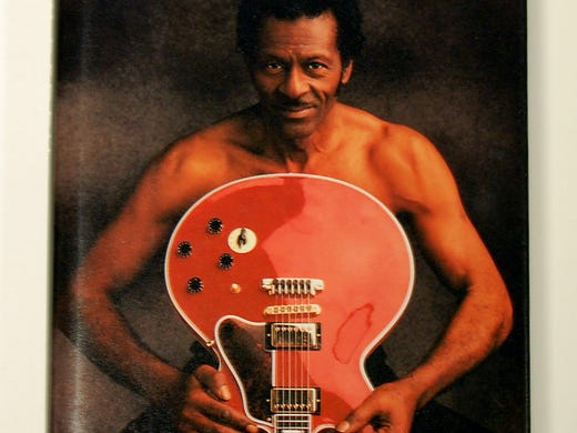 Oct. 18 is Chuck Berry's 86th birthday! To celebrate, the Rock and Roll Hall and Museum Fame is honoring its first inductee with 'Roll Over Beethoven: The Life and Music of Chuck Berry,' a celebration that culminates Oct. 27 with an American Music Masters tribute concert featuring Berry and other artists. A related Rock Hall exhibit opens Thursday; here's an exclusive preview of what will go on display in Cleveland: Pictured is the cover for 'Chuck Berry: The Autobiography,' published in 1987.
