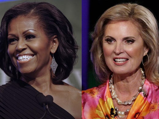 Unlike their more buttoned-up husbands, Michelle Obama and Ann Romney both have distinct, but different, senses of style. USA TODAY's Maria Puente gets Leah Chernikoff,  executive editor of Fashionista.com, to compare the ladies and their looks.