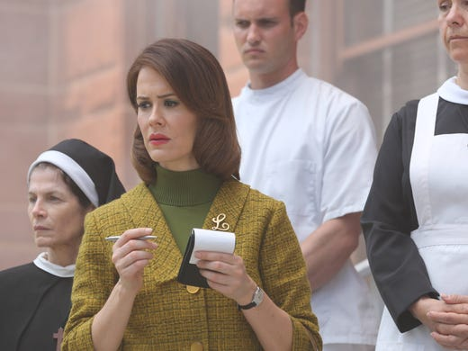 'American Horror Story: Asylum' debuts its second season on Wednesday at 10 on FX.  Sara Paulson, center, plays Lana Winters, a reporter turned inmate at Briarcliff Manor.