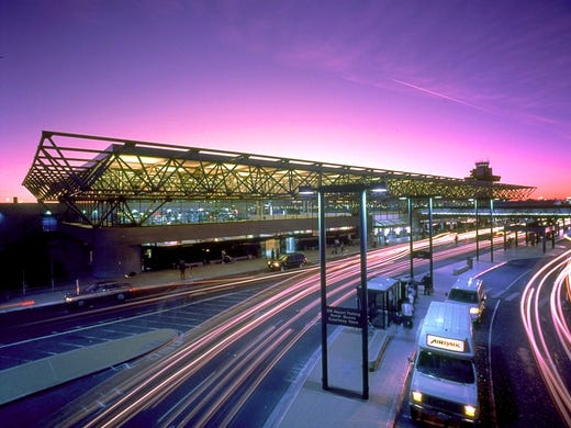 Oakland International' Airport Terminal 2 is among 11 LEED-certified airport terminals in the USA. The 108,000-square-foot building is surrounded by channels that filter storm water before it pollutes San Francisco Bay.