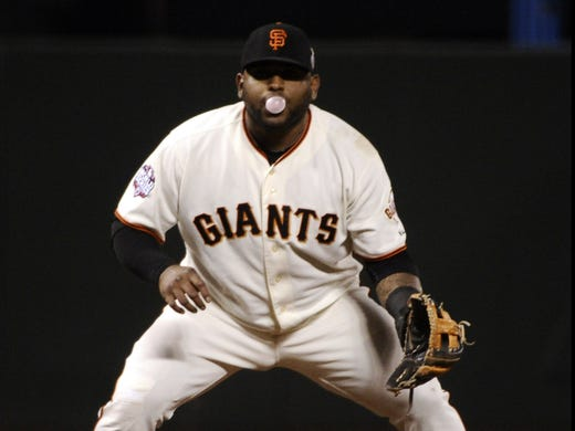 Notable hefty hitters through the years, with height and weight from Baseball-Reference.com:  Pablo Sandoval (5-11, 240).Slump in 2010 was attributed to excessive weight.