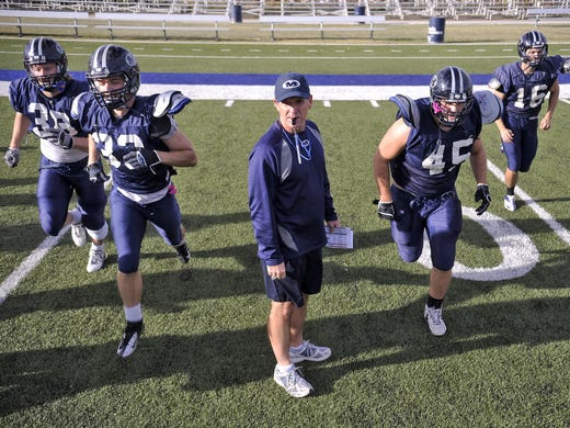 Bob Stitt employs an offensive style at the Colorado School of Mines in Golden, Colo. The system has been adopted by some of the leading major college football teams in the U.S., including many in the top 25.