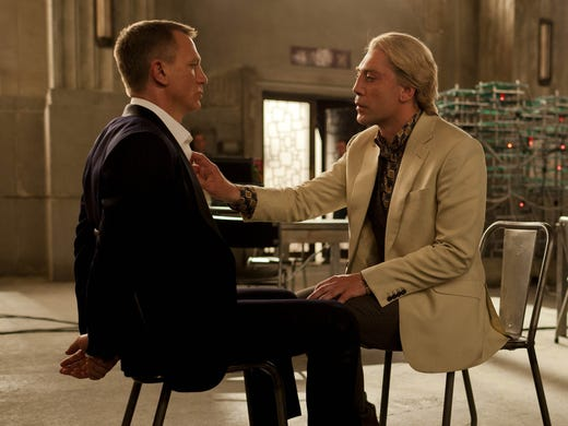 """With the introduction of Raoul Silva, Javier Bardem, right, joins a 23-film history of archenemies of James Bond, played here by Daniel Craig in the latest movie 'Skyfall.' Click ahead to see some other notable bad guys from the film series.         <p>""""A Bond villian is a genre in itself,"""" says Bardem. """"I knew that when I jumped in. There have been so many great actors playing these roles."""" Longtime Bond producer Barbara Broccoli says that without the baddies, there would really be no Bond. """"The villains are so vitally important,"""" she says. """"We've always said, any Bond film is only as good as the villain."""" Here's a look at some of the favorites.</p>"""