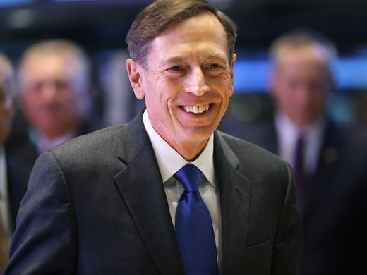 2012- CIA Director David Petraeus prepares to ring the opening bell at the New York Stock Exchange Sept. 18 in New York City.