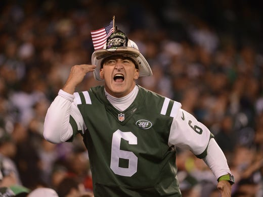 Fireman Ed in October 2012 during a game against the Texans.